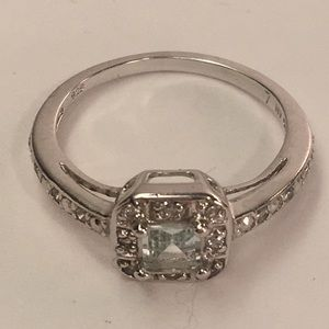 Nevada Clear Crystal Ring Size 7